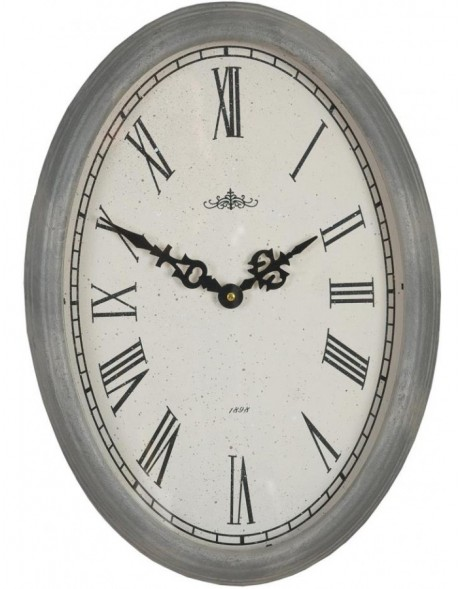 wall clock 30x42 cm grey