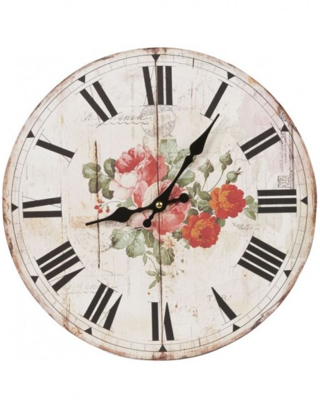 clock flowers - 6KL0240 Clayre Eef