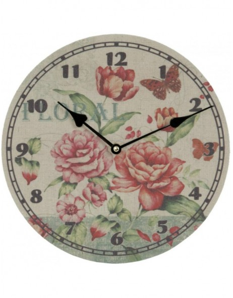 clock flowers - 6KL0270 Clayre Eef