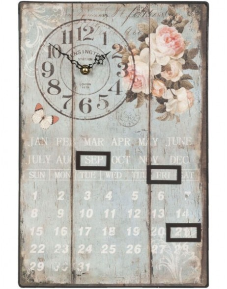 wall clock blue/shabby - 6KL0209 Clayre Eef