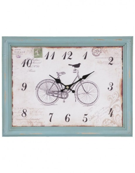 wall clock blue/shabby - 6KL0291 Clayre Eef
