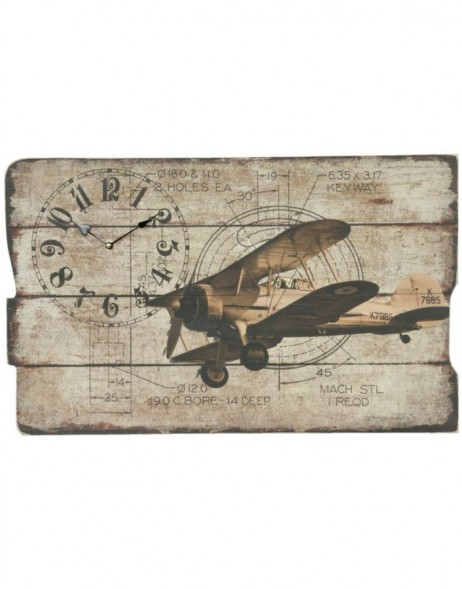 wall clock brown - 5KL0031 Clayre Eef