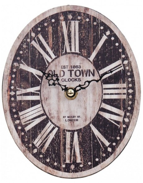 wall clock brown - 6KL0319 Clayre Eef