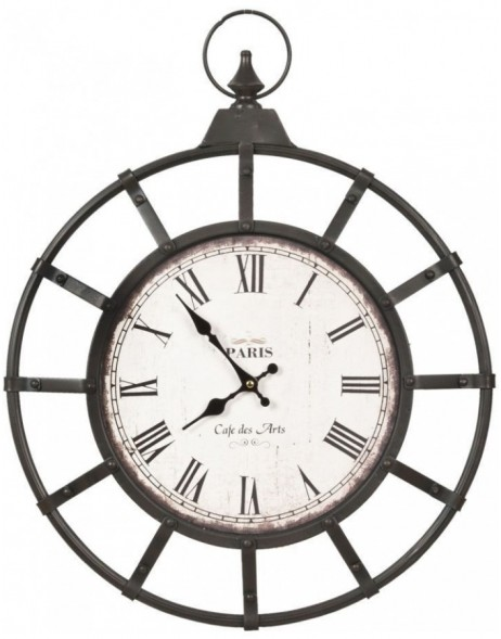 wall clock brown - 5KL0029 Clayre Eef