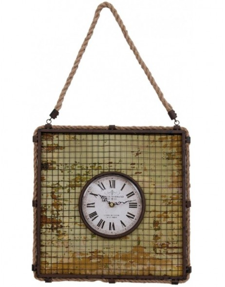 wall clock green  - 6KL0322 Clayre Eef
