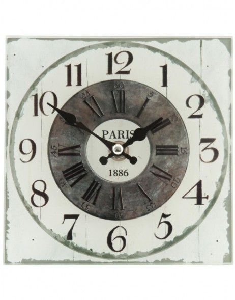 wall clock natural/shabby - 6KL0268 Clayre Eef