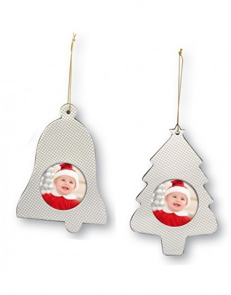 Christmas Decorations pendant in silver 2er Pack