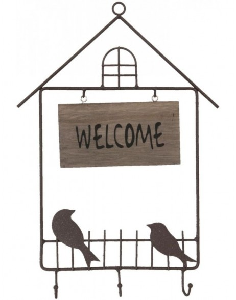 welcome board with hooks 26x37 cm