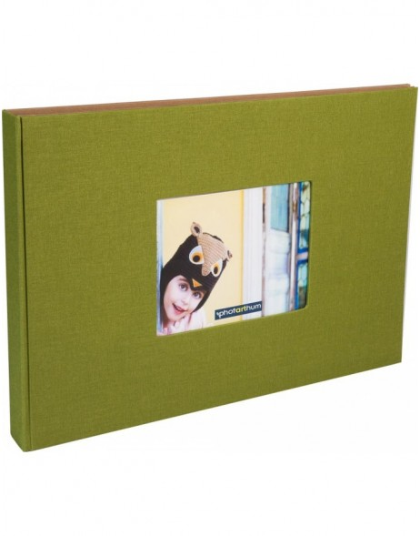 XL screw bound album ELBE A3 olive