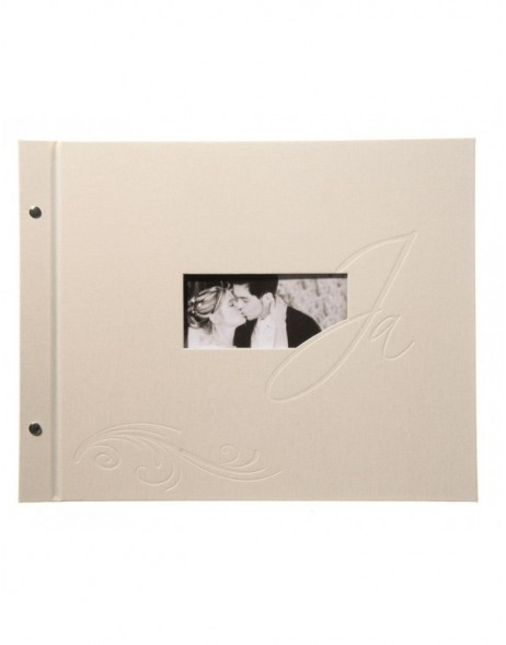 screw bounded photo album marriage YES beige