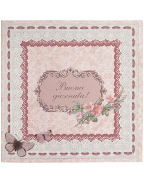 antique greeting card Italian 13,5x13,5 cm