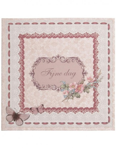 antique greeting card Dutch 13,5x13,5 cm