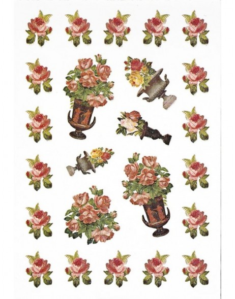 Stickers Nostalgic Roses - self adhesive, DECOR