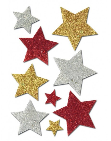 Decorative self adhesive STARS - glittering