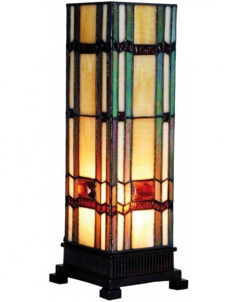 bunte tiffany stehlampe aus glas 12 5x35 cm clayre eef fotoalben. Black Bedroom Furniture Sets. Home Design Ideas