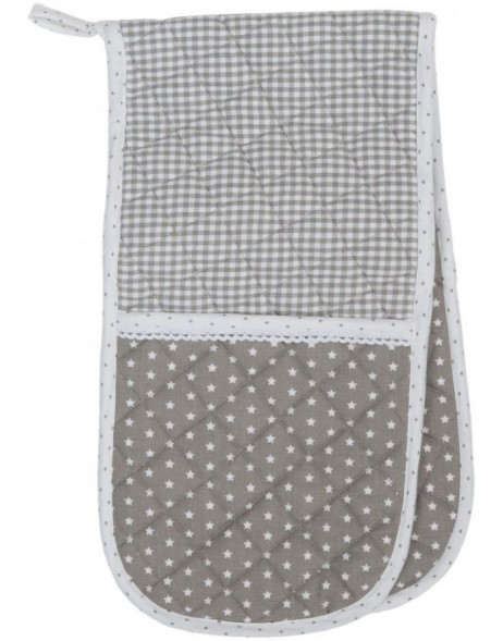 double oven glove natural  - Twinkle Little Star