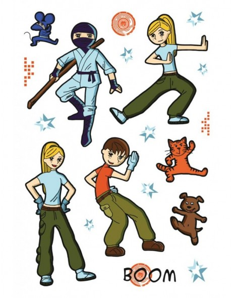 Stickers Martial Arts, self adhesive - MAGIC