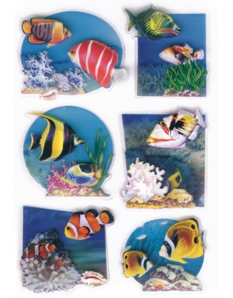 3D-Sticker TROPICAL FISH - MAGIC, self adhesive