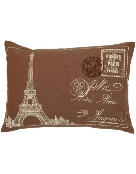 filled cushion POST EIFFEL TOWER 35x50 cm