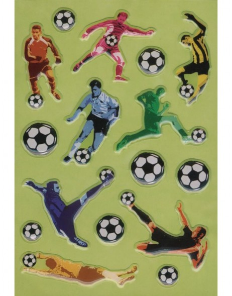 3D-Sticker SOCCER PLAYERS - MAGIC, self adhesive