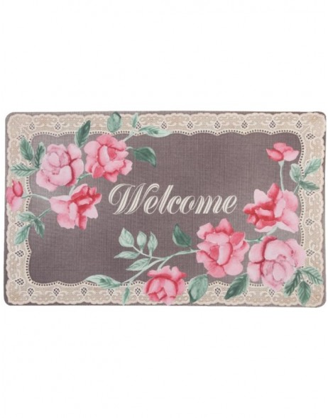pretty doormat 74x44 cm WELCOME with roses