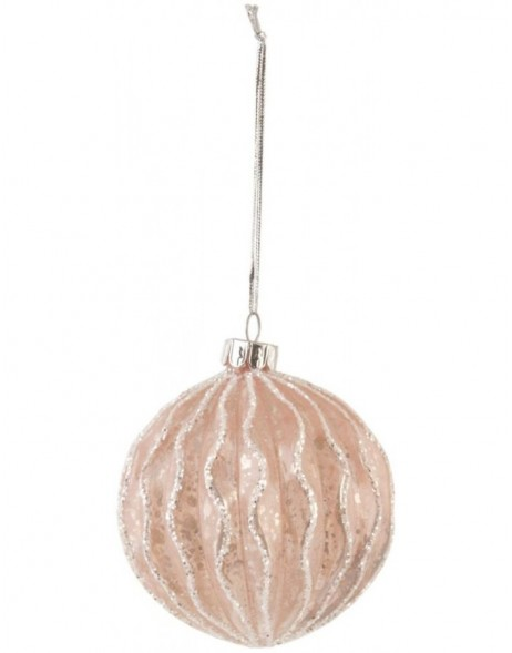 christmas bauble 8 cm gold