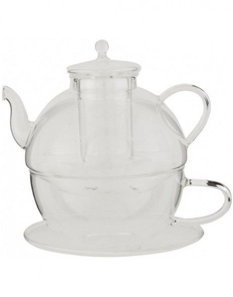 TEA FOR ONE - teapot with cup made of glass