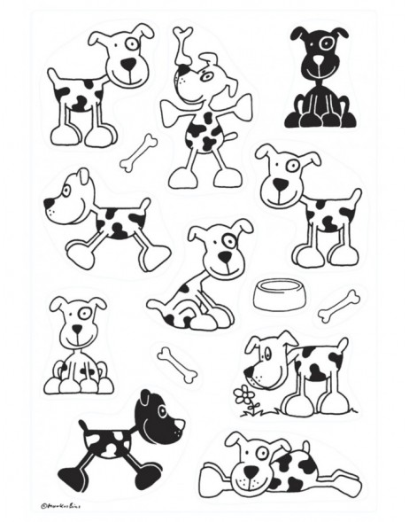 decorative labels DECOR Hund  3 sheets