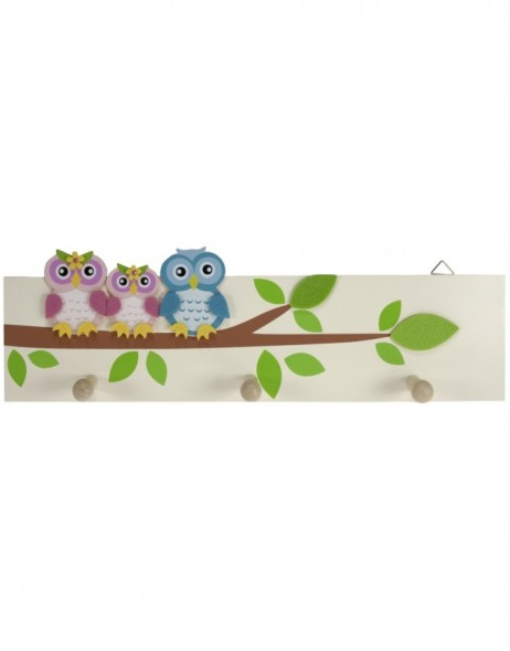 children coat rack owl