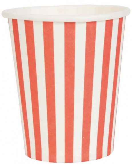 62877R Clayre Eef 10 pieces paper cups Stripes