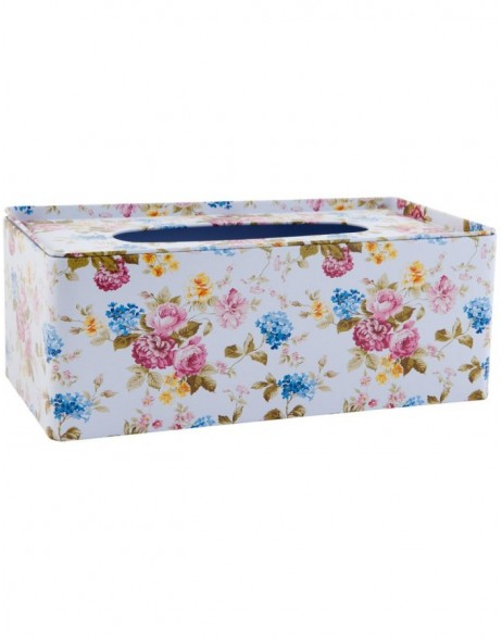 63229 Clayre Eef facial tissue box FLOWERS