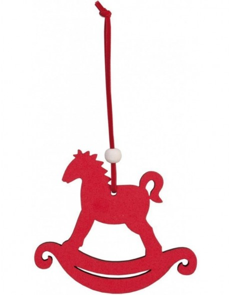 62386L Clayre Eef christmas pendant rocking Horse