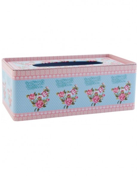63230 Clayre Eef facial tissue box FLOWERS