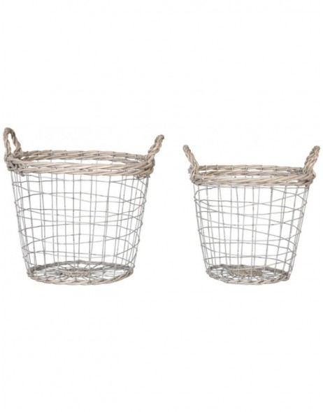 Basket Set 6Y1382 gray Ø 28x34 / 26x31 cm Ø