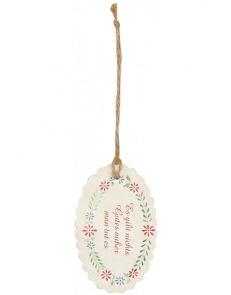 62857 Clayre Eef gift tag (12 pieces) Spruch