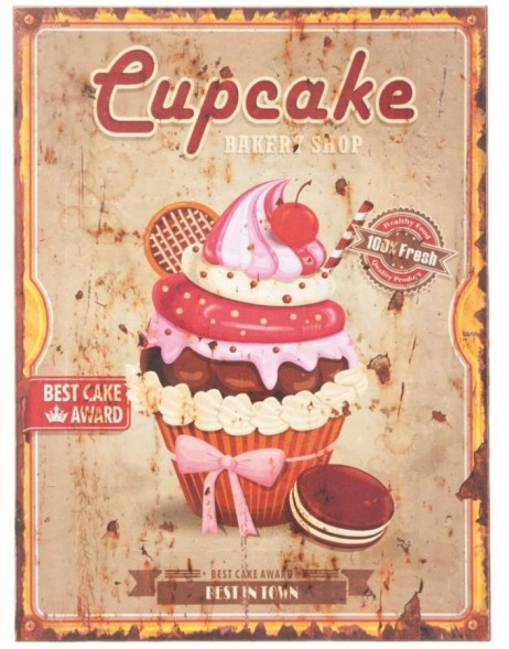 62831 Clayre Eef wall decoration CUPCAKE