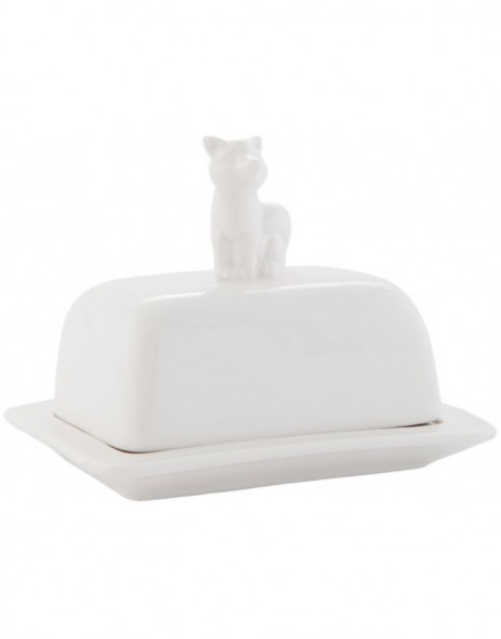 6CE0413 Clayre Eef butter dish - white