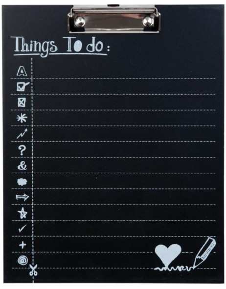 63271 Clayre Eef THINGS TO DO clipboard