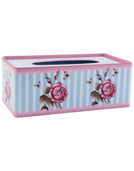 63231 Clayre Eef facial tissue box FLOWERS