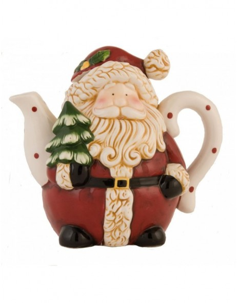 6CE0402 Clayre Eef Christmas decoration SANTA - red/colourful