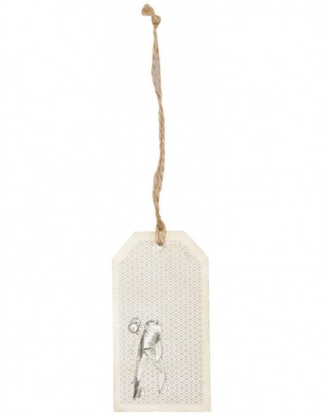 62855 Clayre Eef gift tag (12 pieces) schlicht
