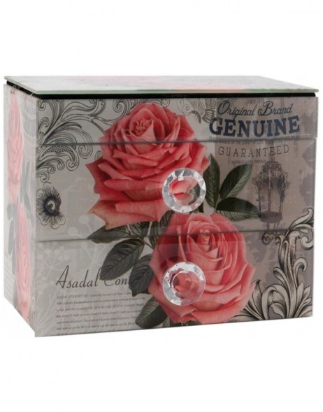 63220 Clayre Eef storage box ROSES