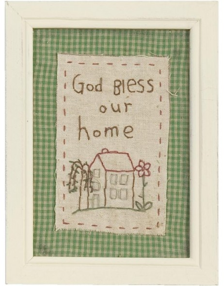 Wandbild 61260 - 15x20 cm God Bless Our Home