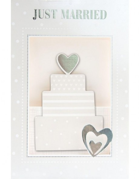 Artebene Karte Pop-up/Just Married/Torte