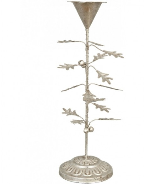 Christmassy candle holder silver