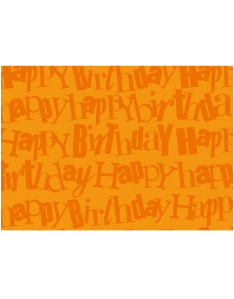 Papier 50x70cm Happy Birthday orange