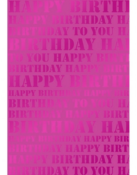 Papier 70x100 cm Happy Birthday beere