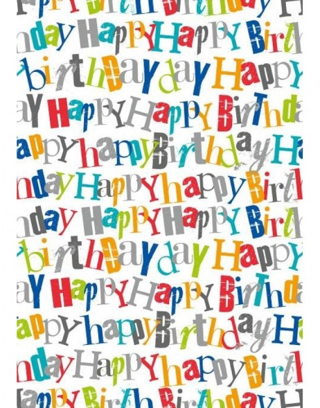 Papier 70x100 cm Happy Birthday