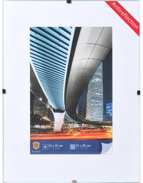 Frameless photo frame 50x70cm Anti-reflective glass