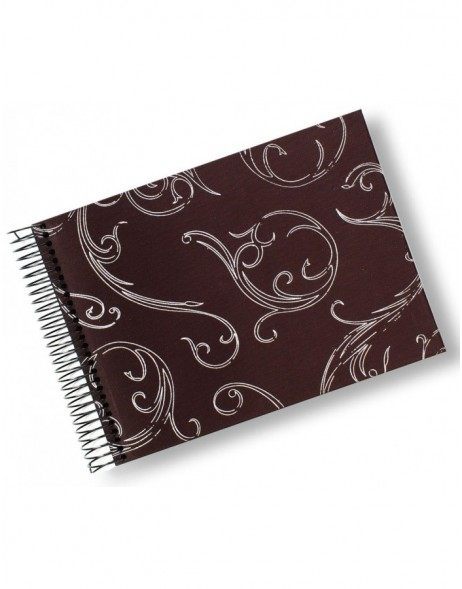 Small spiral bound album Silverprint  in brown